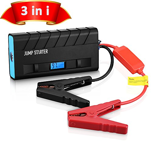 Amazon Lightning Deal 95% claimed: Jump Starter, [High Quality]Pictek Car Jump Starter 3-in-1 ( Rechargeable Portable Mobile Power Bank, 500A Output, LED Flashlight) 13600mAh External Battery Charger