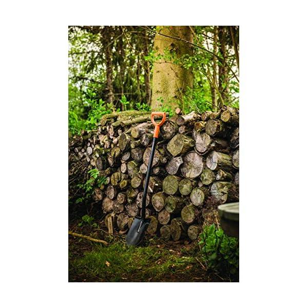 Fiskars Vanga a punta per terreni duri e sassosi, Lunghezza 117 cm, Acciaio/Plastica, Nero/Arancione, Solid, 1003455 3 spesavip