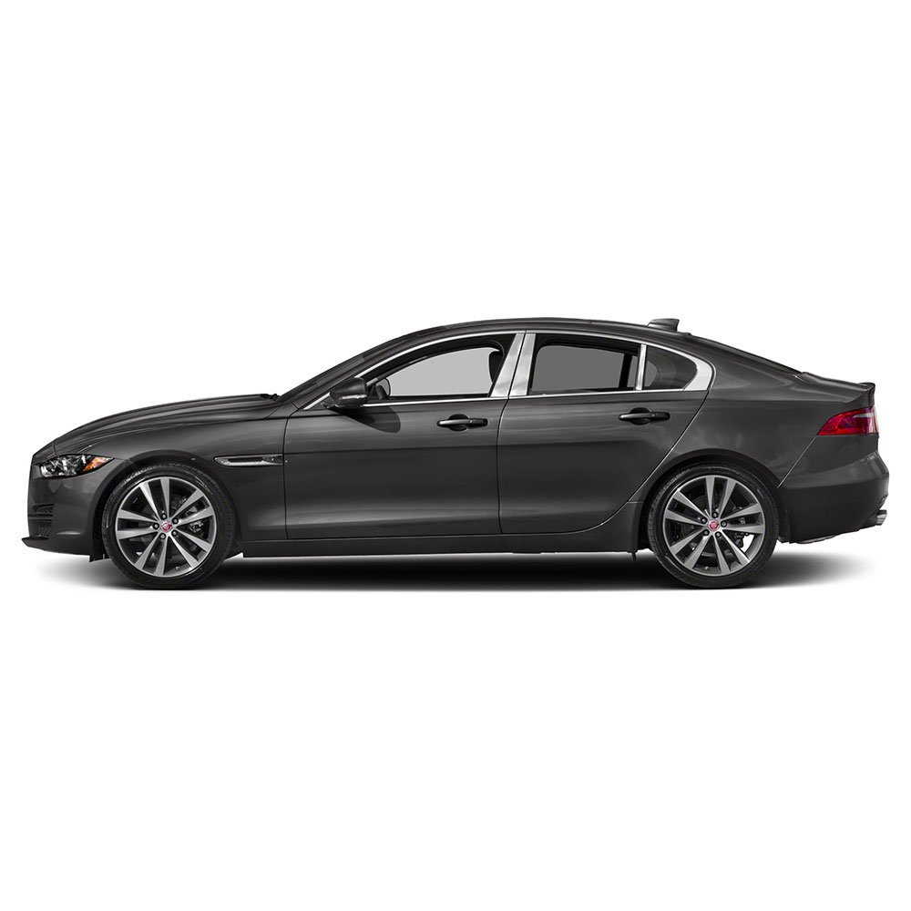 Auto Reflections 6pc Stainless Steel Pillar Post Covers for 2017-2018 Jaguar XE