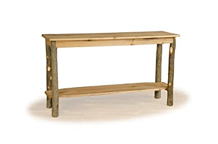 Exceptionnel Rustic Hickory Sofa Table  ALL HICKORY  Amish Made