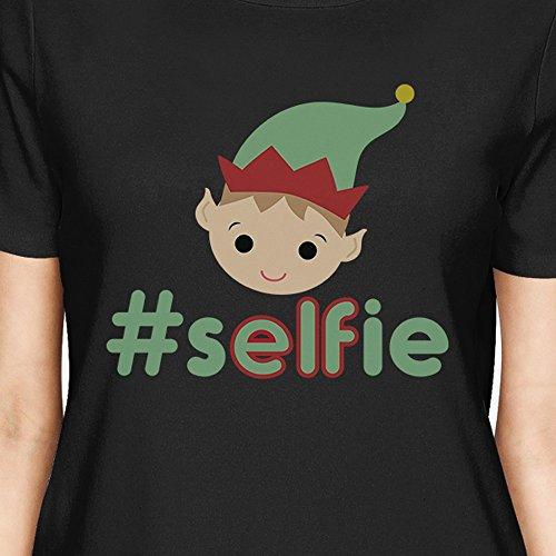 365 Selfie Elf Hashtag Courtes Printing Unique T Taille shirt Femme Manches rTraHwq