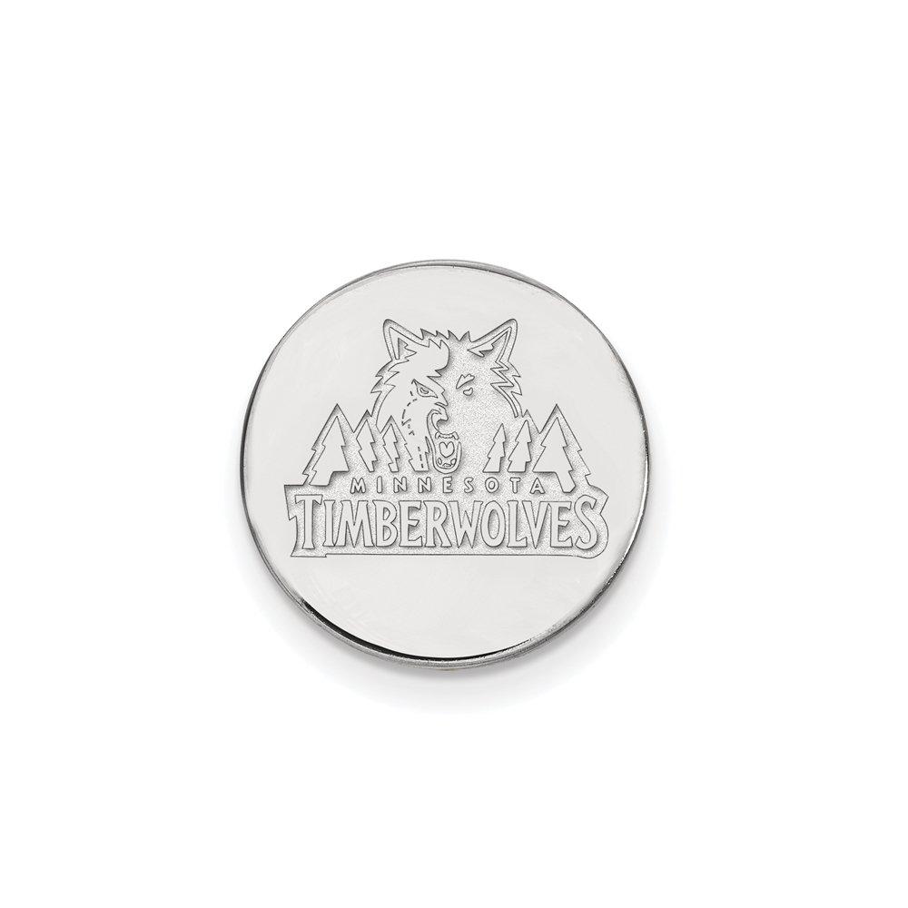 NBA Minnesota Timberwolves Lapel Pin in 14K White Gold