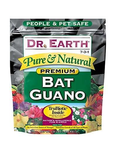 Jamaican Bat Guano - Dr. Earth Pure & Natural Bat Guano 1.5 lb