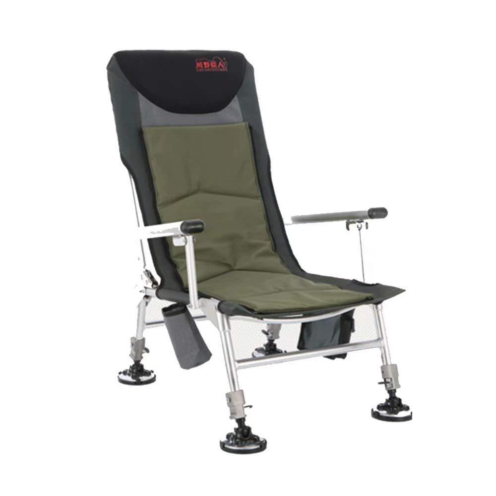 GG-Fishing chair Silla de Camping Plegable con Respaldo de ...