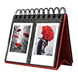 mini fridge wood cover - Amazing Works 68 Pockets Desk Calendar Album for Fuji Instant Mini 70 7s 8 25 50s 90, Polaroid Z2300, Polaroid PIC-300P Film (Red)