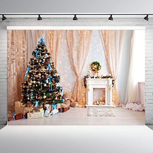 Dobeans Christmas Backdrops for Photography 10x10ft Chirstmas Tree Decoration Photography Background Merry Christmas Photo Backdrop Family Children Kids Vinyl Xams Backdrop Studio Props (Chirstmas Trees)