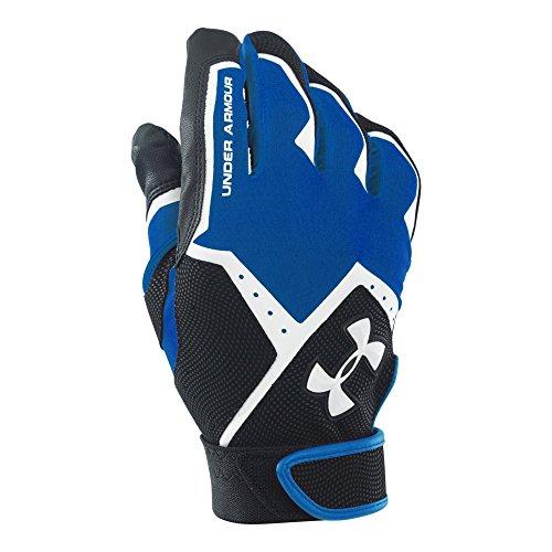(Under Armour Men's Clean-Up VI Batting Gloves, Royal (400)/White, Large)