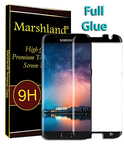 Marshland? Screen Protector Anti Scratch Bubble Free 3D Curved Tempered Glass Compatible with Samsung Galaxy S7 Edge  Black