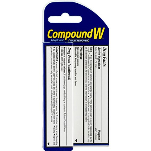 Compound W Salicylic Acid Wart Remover | Maximum Strength Fast Acting Gel | 0.25 oz | (Value Pack of 2) by Compound W (Image #4)