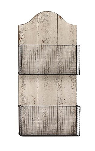 Fantastic Amazon.com: Deco 79 Wood Wire Wall Basket, 16 by 32-Inch: Home  SO02