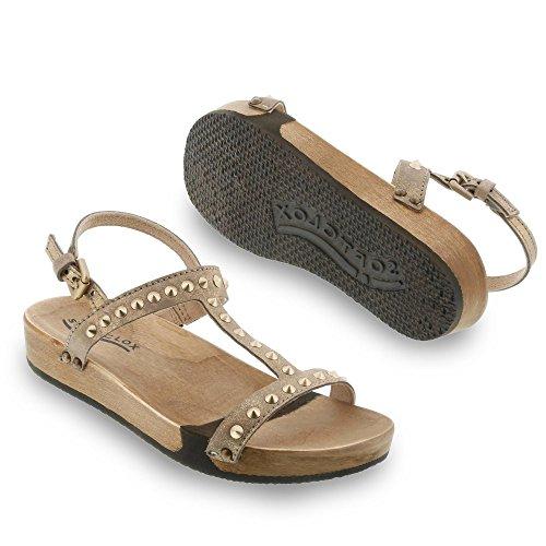 Softclox 3297-01-lARISSA, s, sandales femme multicolore/taupe/doré