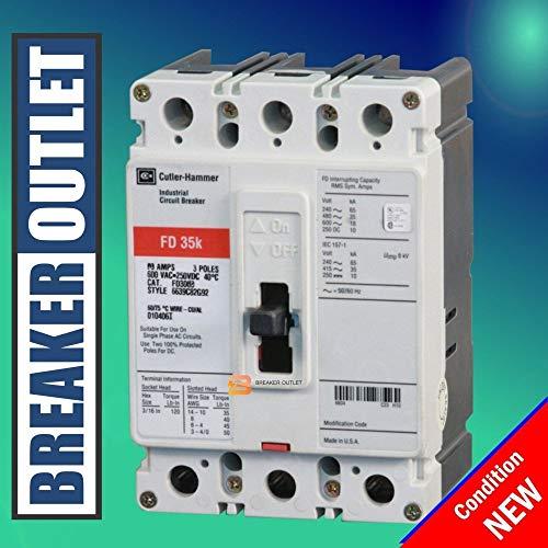 Cutler Hammer Fd - New Cutler-Hammer Eaton FD3030 Circuit Breaker 3 Pole 30A 600V FD Frame 35kA