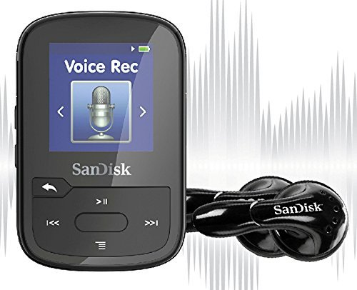 SanDisk Clip Voice MP3 Player and Voice Recorder, 16GB