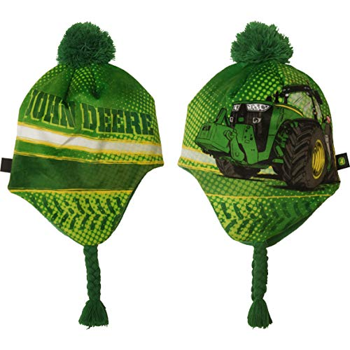John Deere Boys' Toddler Winter Cap, Green