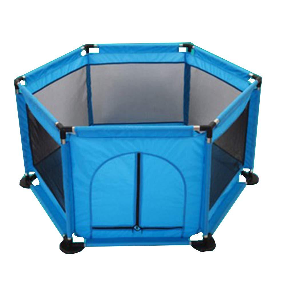XIAOMEI,フェンス 子供用セーフティフェンス、6パネルポータブル室内用屋外セーフティゲームフェンス - ダークブルー - 2サイズオプション ベッドの手すり (サイズ さいず : 117*59*64CM) 117*59*64CM  B07LBD9KWN