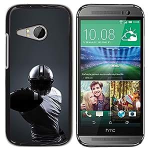 Caucho caso de Shell duro de la cubierta de accesorios de protección BY RAYDREAMMM - HTC ONE MINI 2 / M8 MINI - Minimalista fútbol