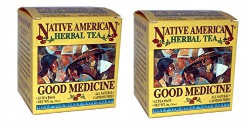 (Good Medicine Native American Herbal Tea (2 Pack, 24 bags), Spearmint Flavor)