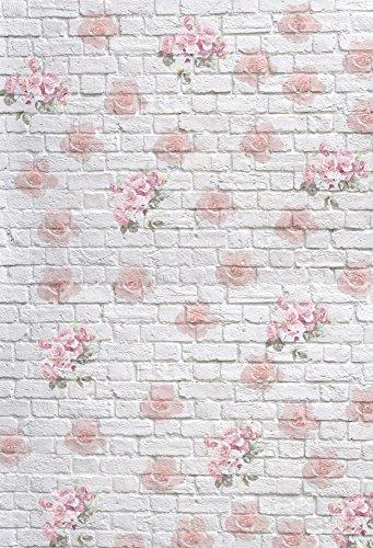 Leowefowa 3X5FT Floral Backdrop Vinyl Photography Background Shabby
