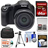 Kodak PIXPRO AZ652 Astro Zoom Digital Camera (Black) 64GB Card + Case + Tripod + Kit