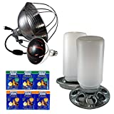 Notti Farm Chick Starter Kit   Chick Heat Lamp and Heat Bulb, Galvanized Chick Feeder and Waterer Set, Chick Electrolytes and Probiotics, Complete Kit