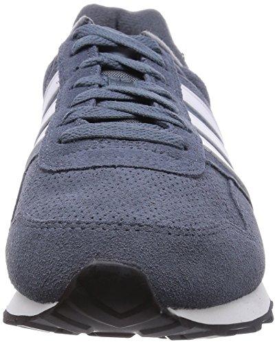 adidas Runeo 10K - Zapatillas deportivas para hombre Plata / Blanco / Azul marino