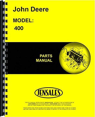 John Deere 400 400 (Hydrostatic) Lawn & Garden Tractor Parts Manual (JD-P-PC1475)