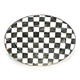 MacKenzie-Childs Courtly Check Enamel Oval Platter - Medium 14.25'' wide, 19'' long