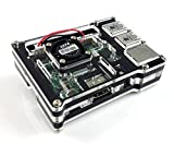 Eleduino 2015 New Version Raspberry Pi 2 mode B Transparent Acrylic Case With Fan Black