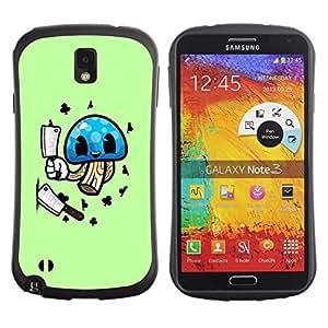 Hybrid Anti-Shock Bumper Case for Samsung Galaxy Note 3 / Mushroom