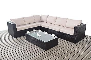 Moderne Große Garten Eckregal 3 Modular 2 Sitzer Sofas Mit Glas