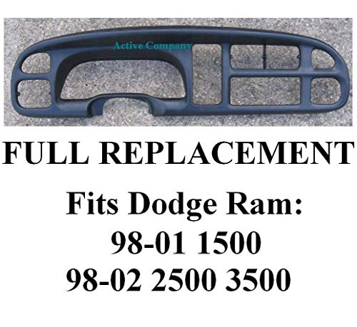 1998-2001 1999 2000 Dodge Ram 1500 Dash Bezel dashboard radio instrument cluster gauge trim dash board And Clips Replacement of mp-5EU11DX9AB - 1998-2002 Dodge Ram 2500 3500 pickup truck -by Active Co