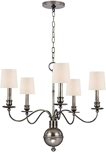 Hudson Valley Lighting 8215-AS Cohasset – Five Light Chandelier, Aged Silver Finish