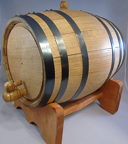 Custom Engraved 10 Liter Oak Barrels for Aging Whiskey, Rum, Tequila, Bourbon, Scotch and Wine (10 Liter) by Red Head Barrels (Image #3)