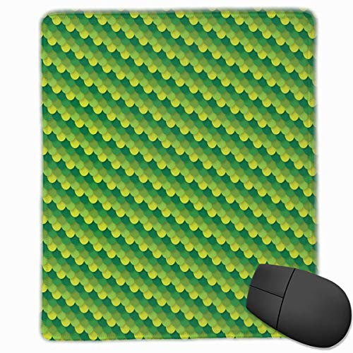 (Green Dragon Scales Quality Comfortable Game Base Mouse Pad with Stitched)