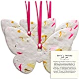 Large Plantable Memorial Shapes With Personalized Instructions Card (Pink Butterfly)