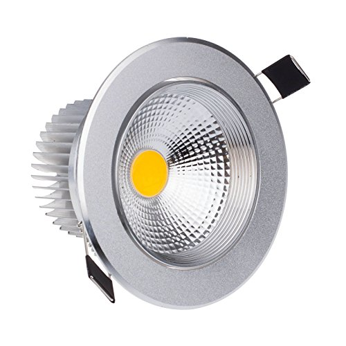 Lemonbest® Bright Dimmable Round Recessed LED Ceiling Light Lamp Flood Downlight Energy Saving Warm White (7 Watts)
