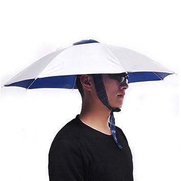 Gorra de Paraguas Gorras de Pesca Paraguas al Aire Libre Sombrero ...