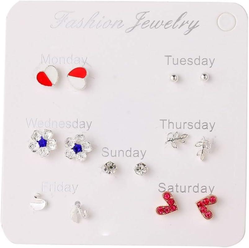 Bosi General Merchandise Pendientes para Mujer, Pendientes de Perlas de Cristal para Mujer, pequeños Pendientes de Plata y Oro, Novedad 2020