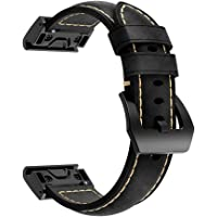 Band Replacement Compatible for Garmin Fenix 5X Watch, Quick Release Wristband, Vintage Leather
