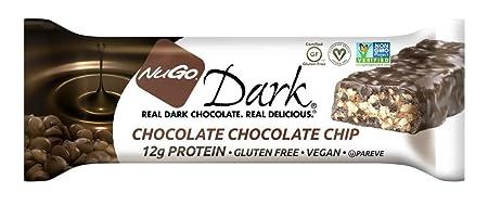 NuGo Dark, Chocolate Chocolate Chip, Dairy Free, 1.76-Ounce Bars Pack of 12