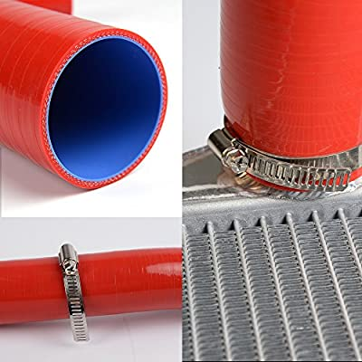 For SUZUKI GSX1300R HAYABUSA 99-07 Red Silicone Radiator Hose Tube Kit: Automotive