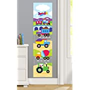 Olive Kids Trains, Planes and Trucks Wall Decal Growth Chart