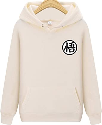10 Couleurs Charmley Femme Sweatshirt /à Capuche Dragon Ball Goku Lettre Imprim/é Pochette Unisexe Pull Animation Grande Taille pour Homme