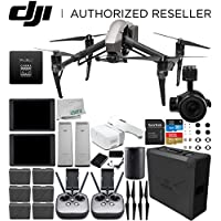 DJI Inspire 2 Quadcopter with CinemaDNG and Apple ProRes Licenses with Zenmuse X5S and 2x CrystalSky 7.85 High-Brightness Monitor + DJI Goggles FPV Headset + 2x CINESSD (240GB) + Extra Remote Control