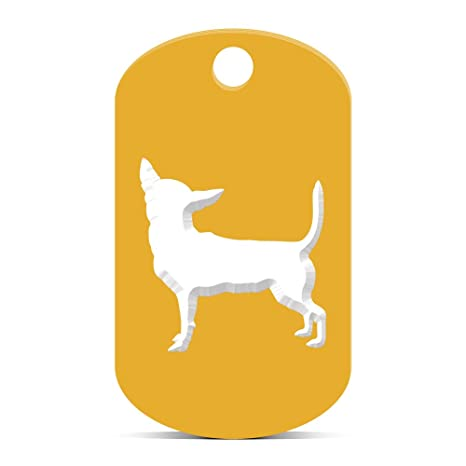 Amazon.com: Chihuahua llavero Gi etiqueta de perro grabado ...