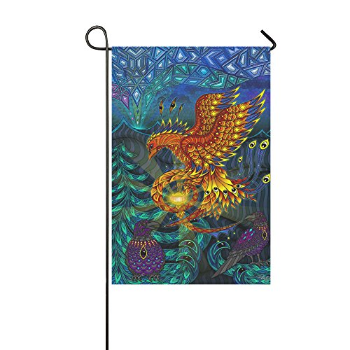 Yard Home Outdoor Decor - Polyester Double Sided Custom Printed Phoenix Garden Decor Flag, 12 x 18 - Phoenix In Stores Outlet