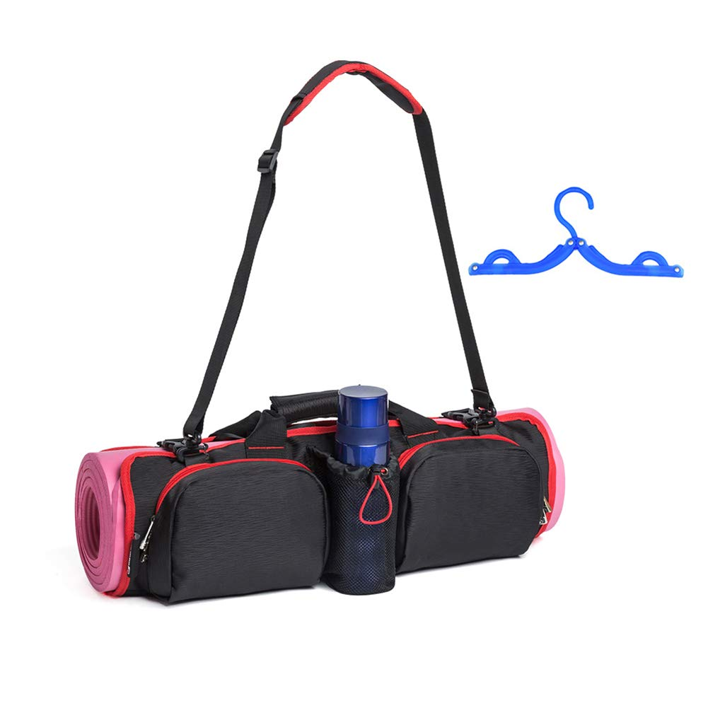 Xcellent Global Yoga Kit Bag Multi-Functional Large Capacity Yoga Mat Bag, Gym Yoga Mat Carrier with Large Side Pockets and Zipper Pocket, Fits Most Size mats