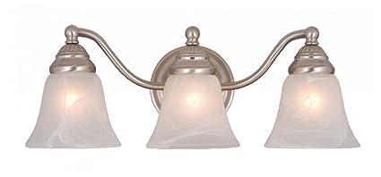 3 light vanity hampton bay vaxcel vl35123bn standford light vanity light brushed nickel finish