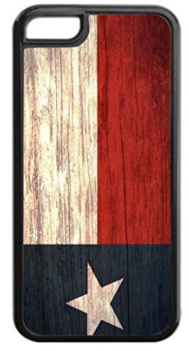 (Texan Flag-Texas-TM Apple iPhone 6 or 6s ONLY!! (Not Compatible with the iPhone 6 PLUS or 6s PLUS) Protective Black Plastic with Tough Soft Inner Black Rubber Lining Phone Case Made in the USA)