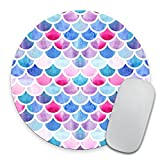 Mermaid Scales Mouse Pad, Watercolor Fish Scales Mouse Pad